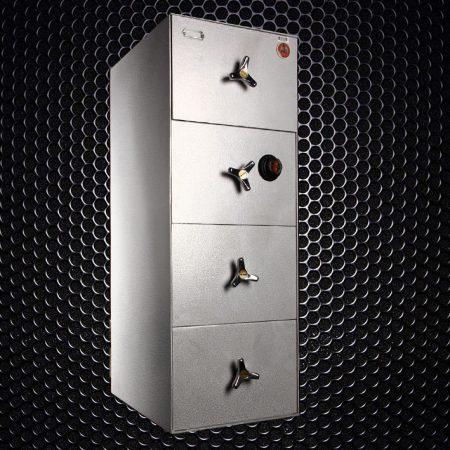 گاوصندوق گاو صندوق کاوه فایل 4 کشو مدل کاوه FR600 با یک رمز آمریکایی